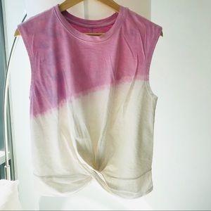 Zella White Pink/Purple Sleeveless Muscle Tank Top